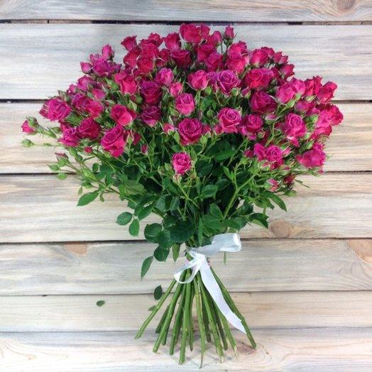 19 розовых кустовых роз: букеты цветов на заказ Flowwow