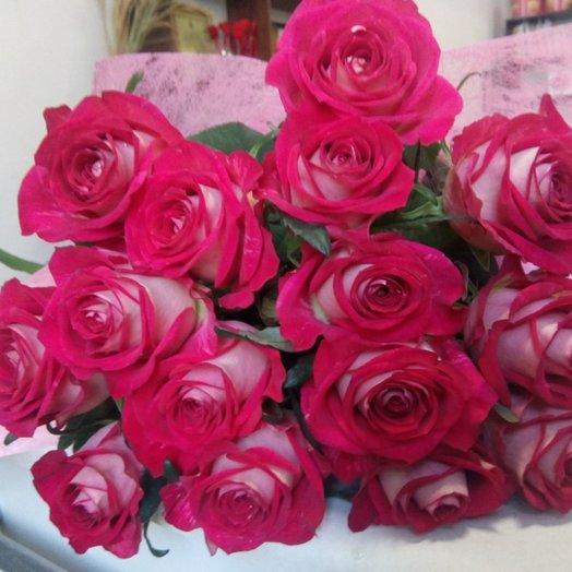 Городской каприз (15 роз): букеты цветов на заказ Flowwow