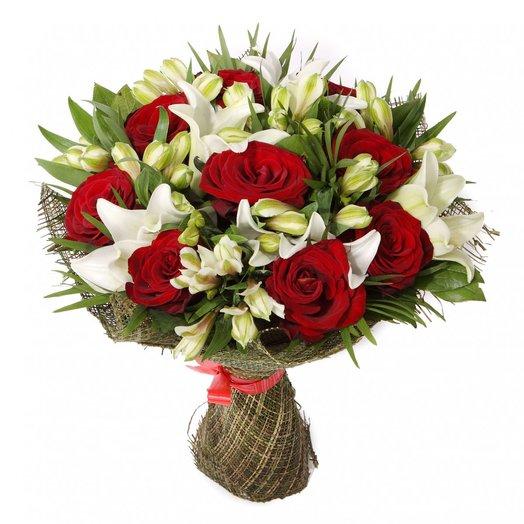 Букет ЛЕД И ПЛАМЯ: букеты цветов на заказ Flowwow