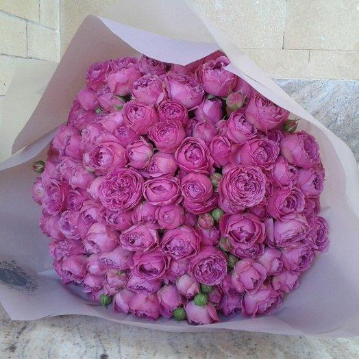 Монобукет из пионовидной розы: букеты цветов на заказ Flowwow