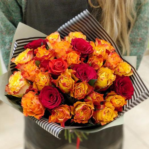 25 роз MIX