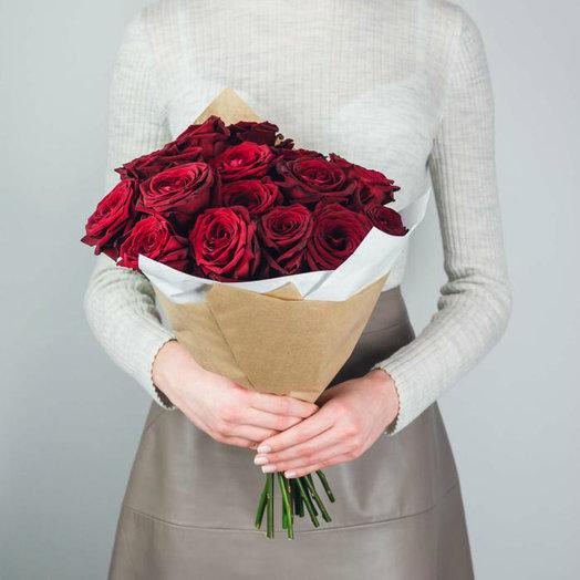 "РОЗЫ ""ГРАН ПРИ"" 19ШТ.: букеты цветов на заказ Flowwow"