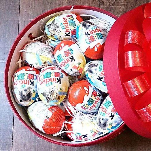 Round box with 30 kinder. od 180102