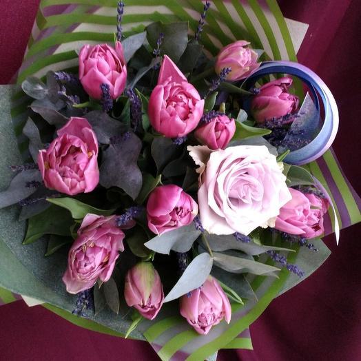 Букетик тюльпанов: букеты цветов на заказ Flowwow