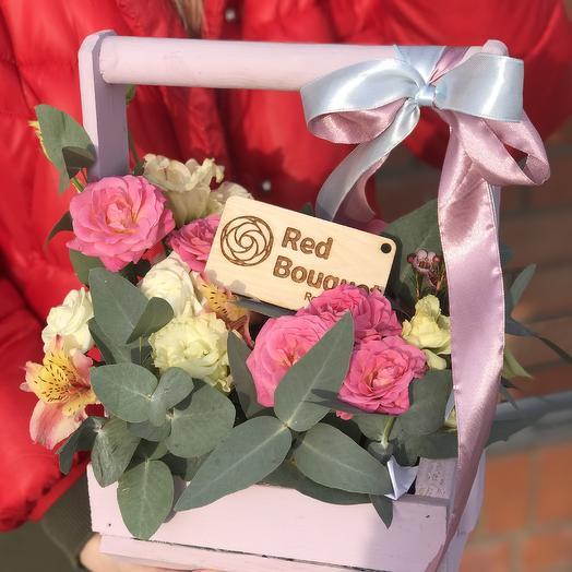 Кашпо нежное: букеты цветов на заказ Flowwow