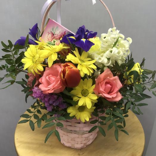 Корзинка «весенний ручеёк»: букеты цветов на заказ Flowwow
