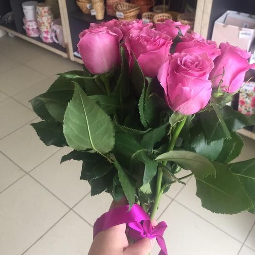 11 роз Эквадор 45 см: букеты цветов на заказ Flowwow