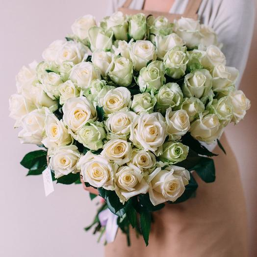 Bunch of 51 white roses: flowers to order Flowwow