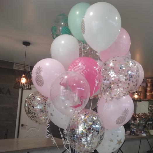 27 воздушных шаров: букеты цветов на заказ Flowwow