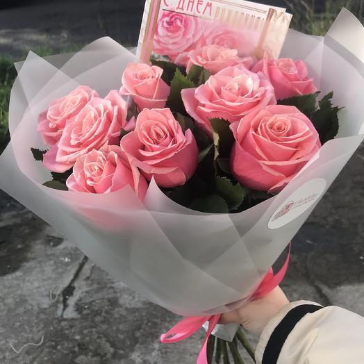 Букет из 9 голландских роз