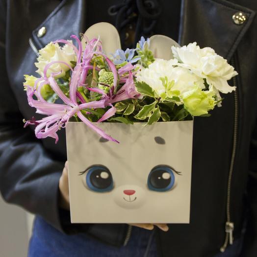 Зайчишка: букеты цветов на заказ Flowwow