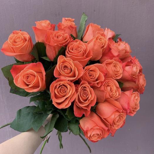 """Букет роз """"Оранжевый закат"""": букеты цветов на заказ Flowwow"""