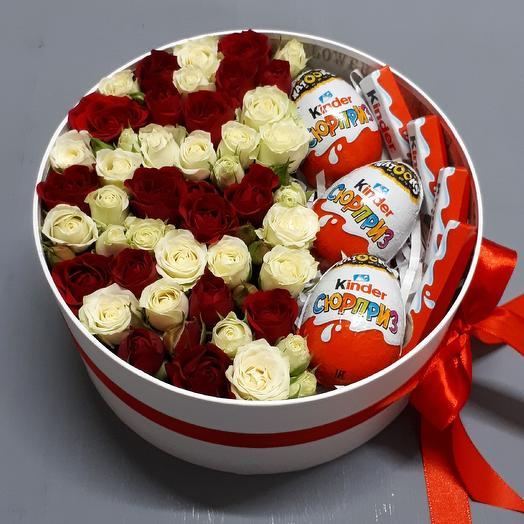 Сюрприз в коробке: букеты цветов на заказ Flowwow