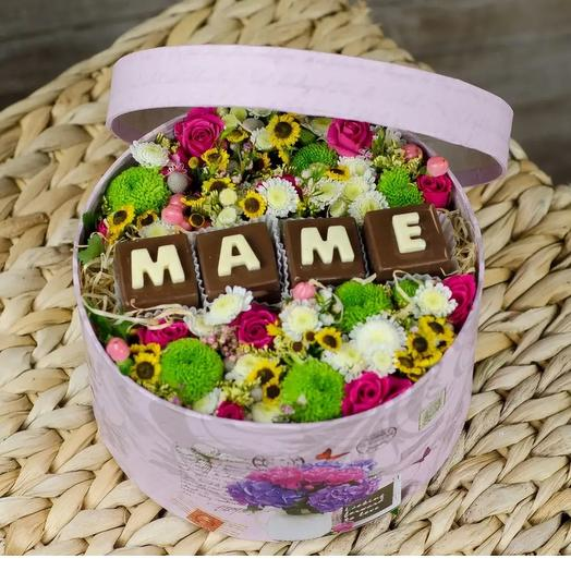 Коробка Комплимент: букеты цветов на заказ Flowwow