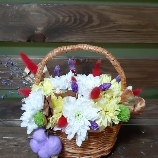 Лукошко лета с лавандовым ароматом: букеты цветов на заказ Flowwow