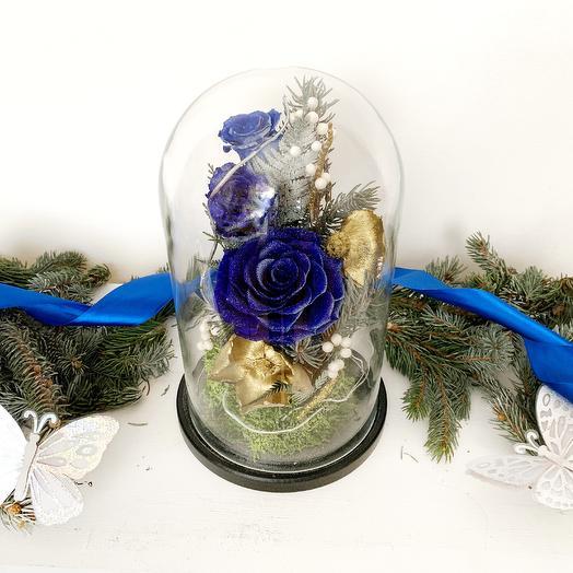 """Новогодняя композиция """"Прогулки по снегу"""": букеты цветов на заказ Flowwow"""