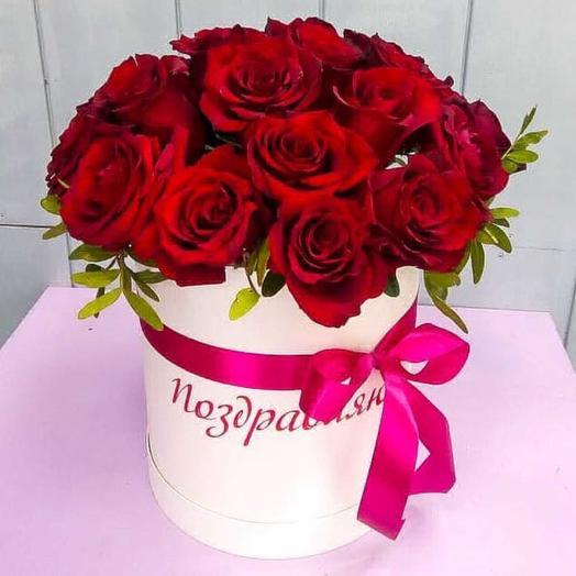 Коробочка голландских роз: букеты цветов на заказ Flowwow