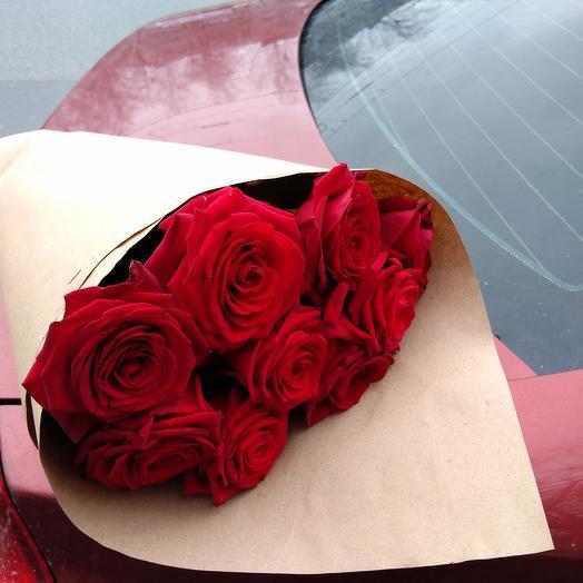 9 роз: букеты цветов на заказ Flowwow