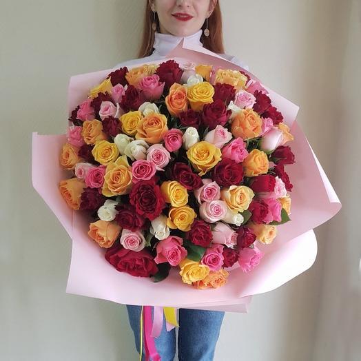 Любимой 101 роза 35
