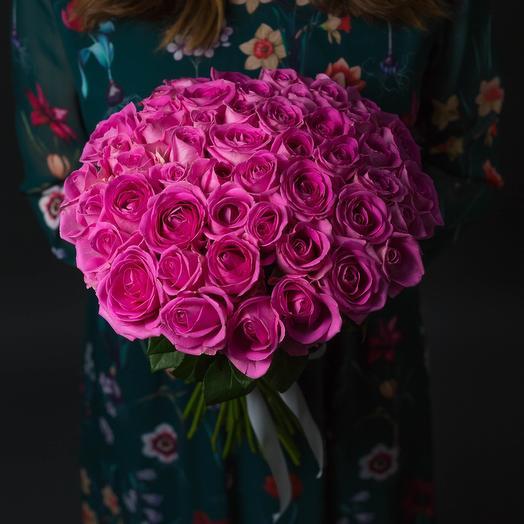51 Роза Эквадор ( Розовая ): букеты цветов на заказ Flowwow