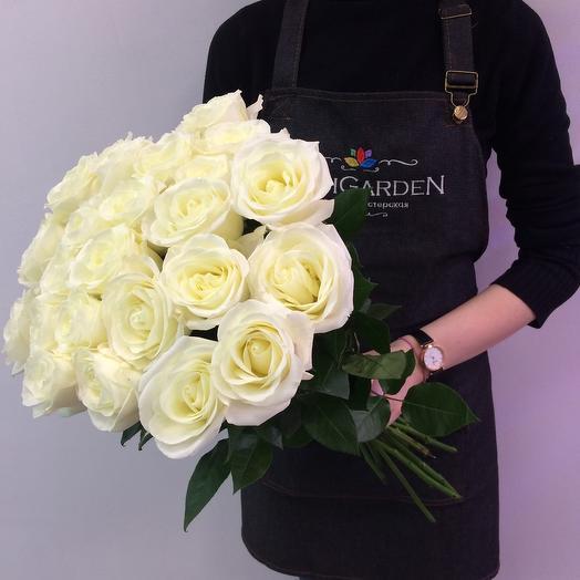 Букет из 19 роз 50см Эквадор: букеты цветов на заказ Flowwow