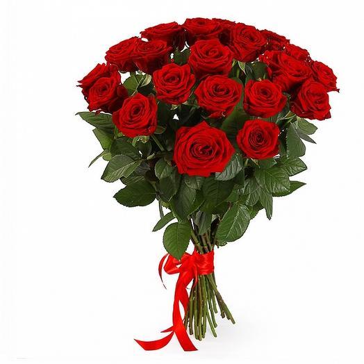 21 Красная роза 40 см