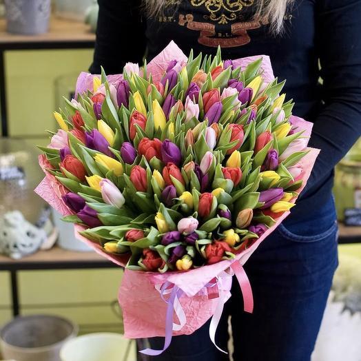 49 Тюльпанов: букеты цветов на заказ Flowwow