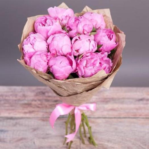 Букет «Розовый Пиончик»