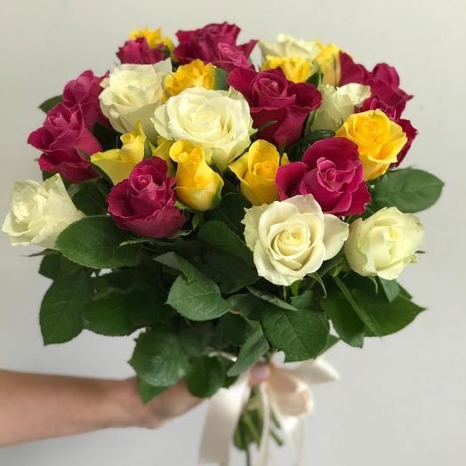 Букет кенийских роз 25 шт🌹
