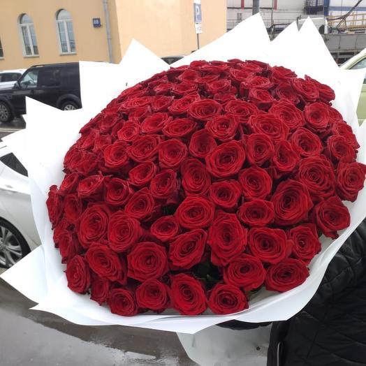101 Роза 60см: букеты цветов на заказ Flowwow