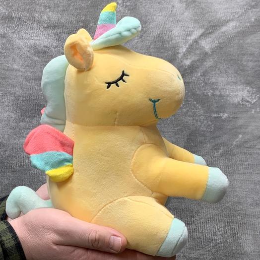 Единорог желтый