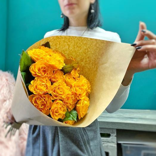Моно | Оранжевые розы | 19 штук