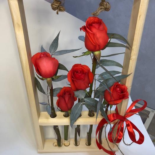 Цветы в колбах