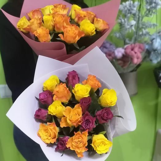 Букет из кенийских роз (Микс)