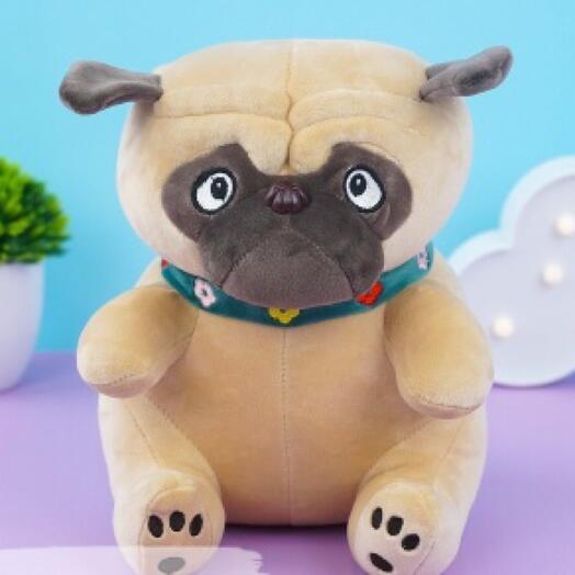 """Мягкая игрушка """"Мопс"""" 30 см"""