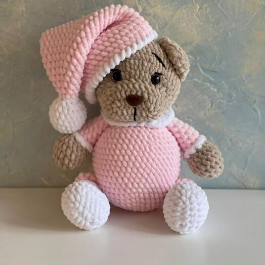 Плюшевый мишка мягкая игрушка в пижаме