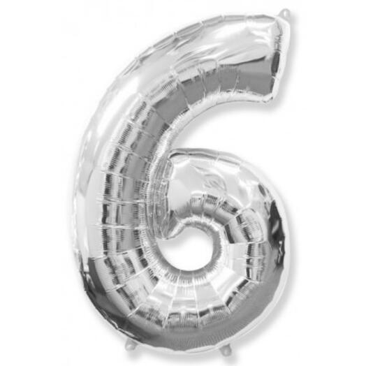 Цифра фольга серебро (1м)