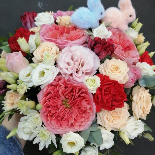 """Цветы в коробке""""подарочная"""""""