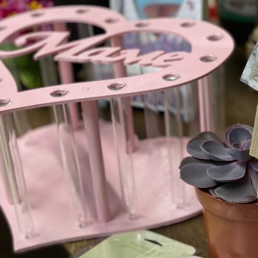 Подставка для цветов с колбами