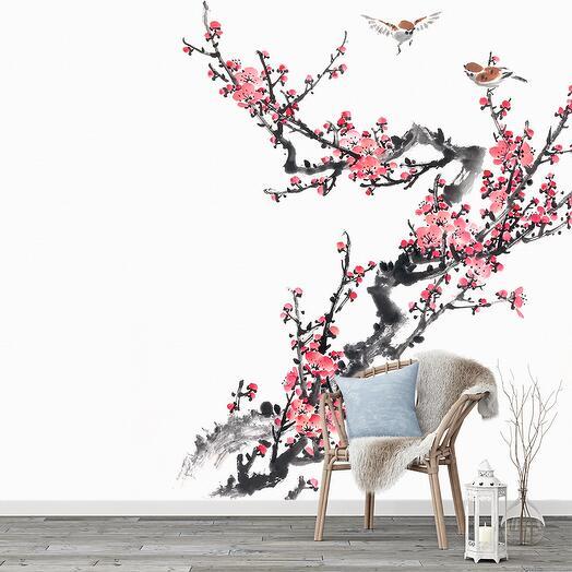 """F02403 Фотообои Флизелиновые с виниловым покрытием, """"Цветы """"300 x 270 см"""