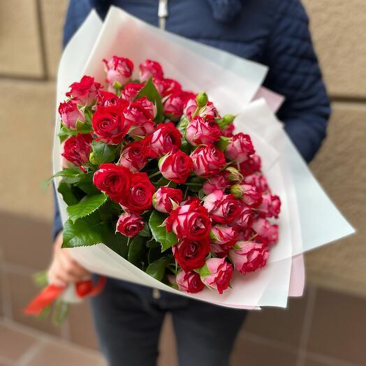 Букет из кустовых роз Би баблс