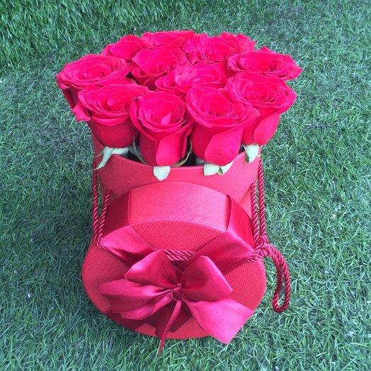 Коробочка 11 роз