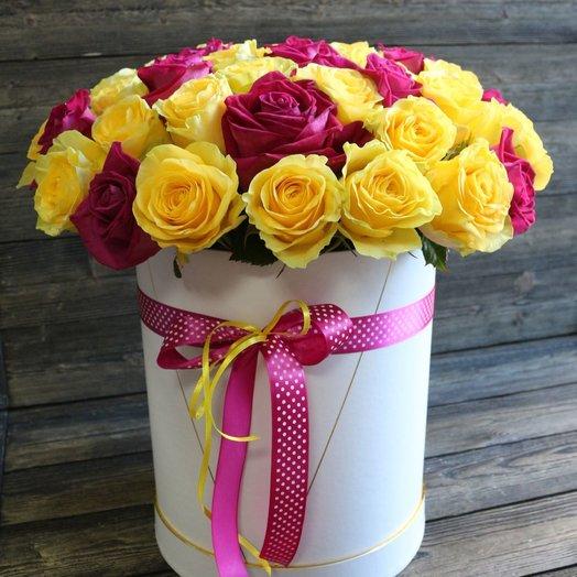 Шляпная коробка Элиза: букеты цветов на заказ Flowwow