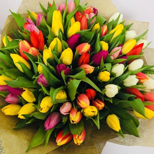 101 tulips: flowers to order Flowwow