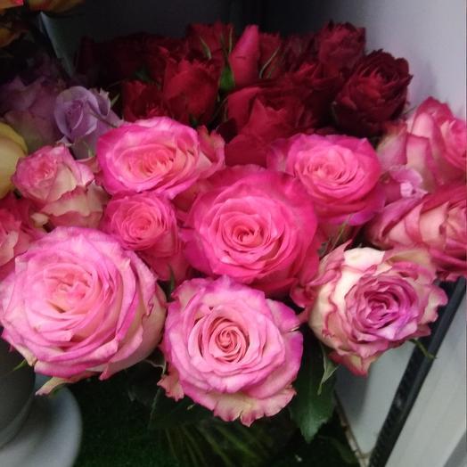 Букетик розочек 45 шт: букеты цветов на заказ Flowwow