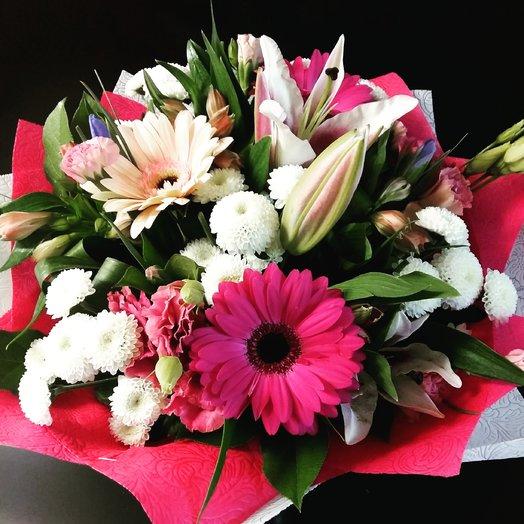 Букет с лилией и герберой: букеты цветов на заказ Flowwow