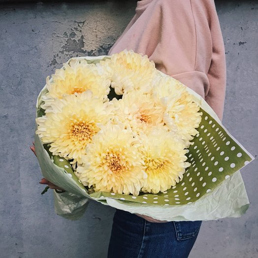 Букет из пушистых хризантем : букеты цветов на заказ Flowwow