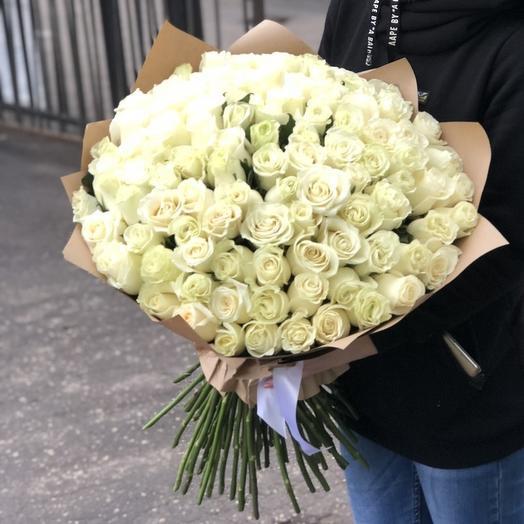Букет из 101 эквадорской свежей розы