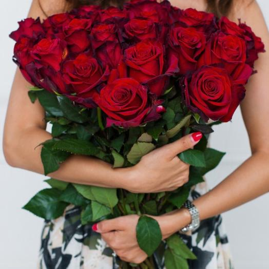 25 премиум роз: букеты цветов на заказ Flowwow