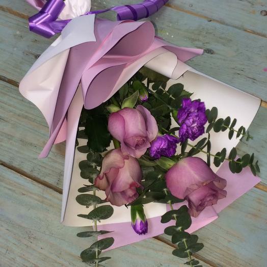 Сиреневый свёрток: букеты цветов на заказ Flowwow